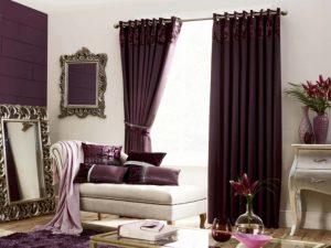 jual gorden minimalis warna ungu