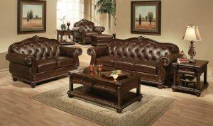 jual sofa kulit klasik